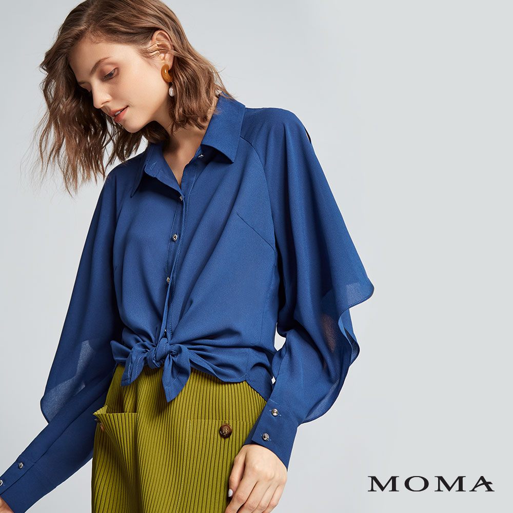 MOMA(02B015)開衩造型袖襯衫