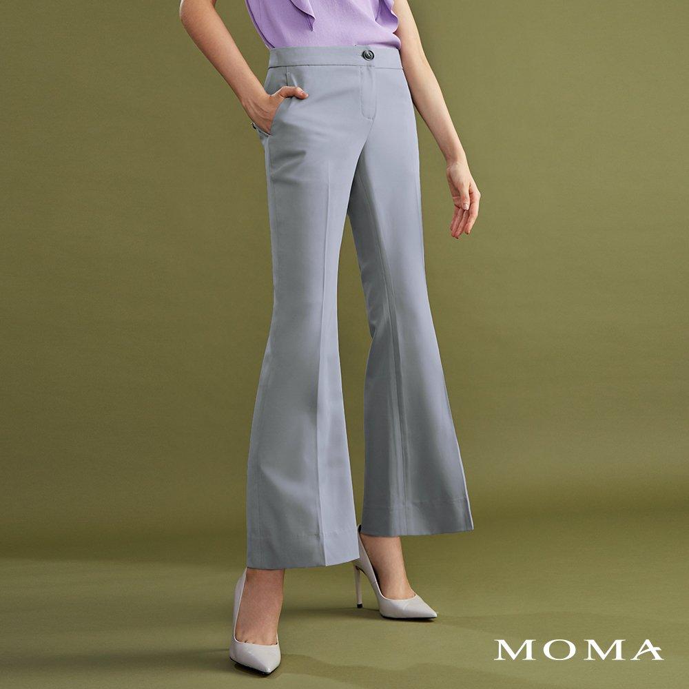 MOMA(02P035)簡約軟質小喇叭褲