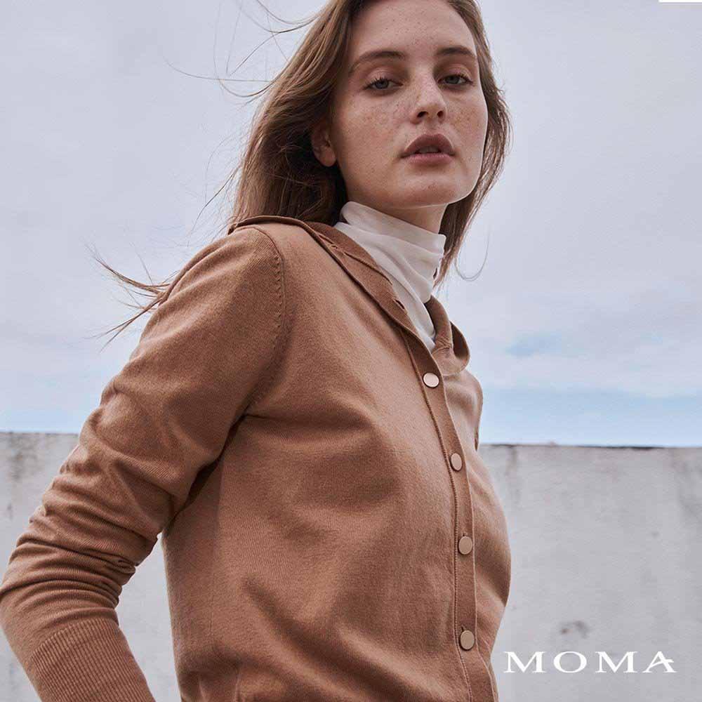 MOMA(02KJ27)造型領片毛織上衣-剩餘38號