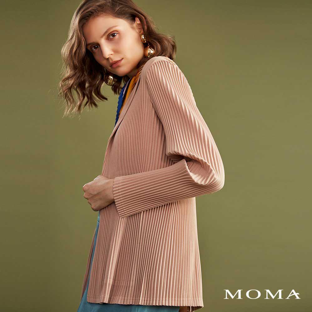 MOMA(02J043)壓褶西裝外套-剩餘38號