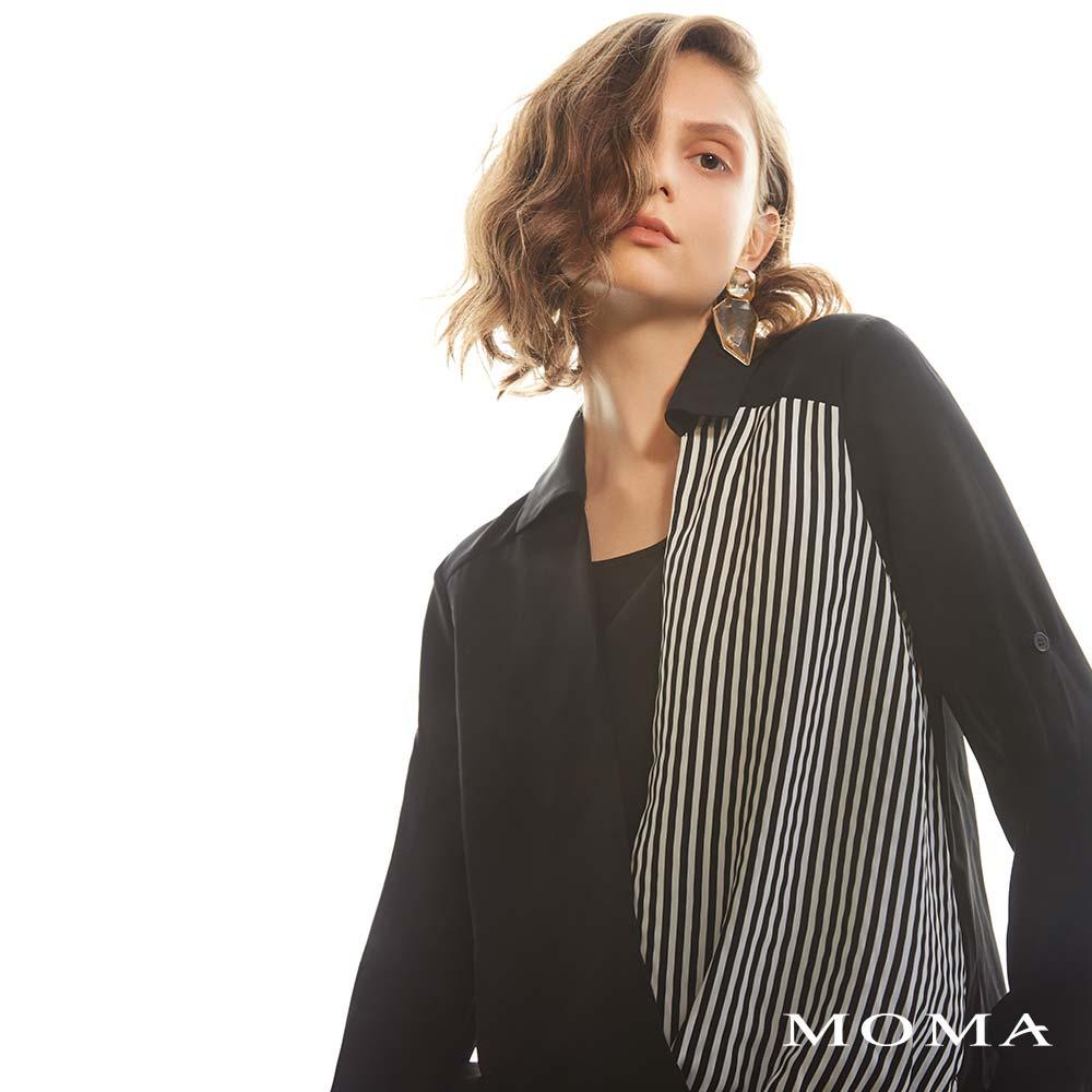 MOMA(02G017)條紋交疊上衣-剩餘34號