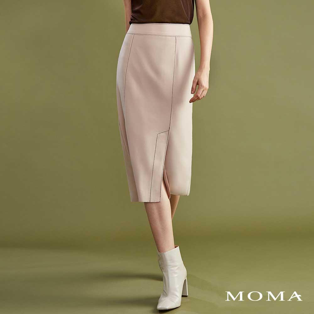 MOMA(02S025)明線裝飾直裙