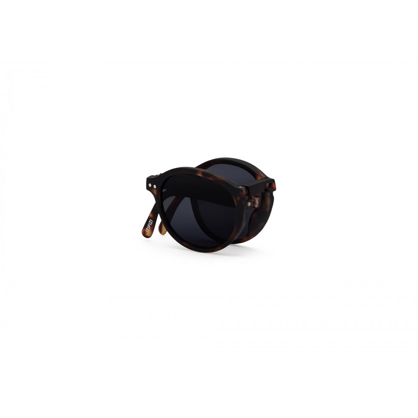 IZIPIZI   #F款 玳瑁/灰色鏡片 摺疊太陽眼鏡