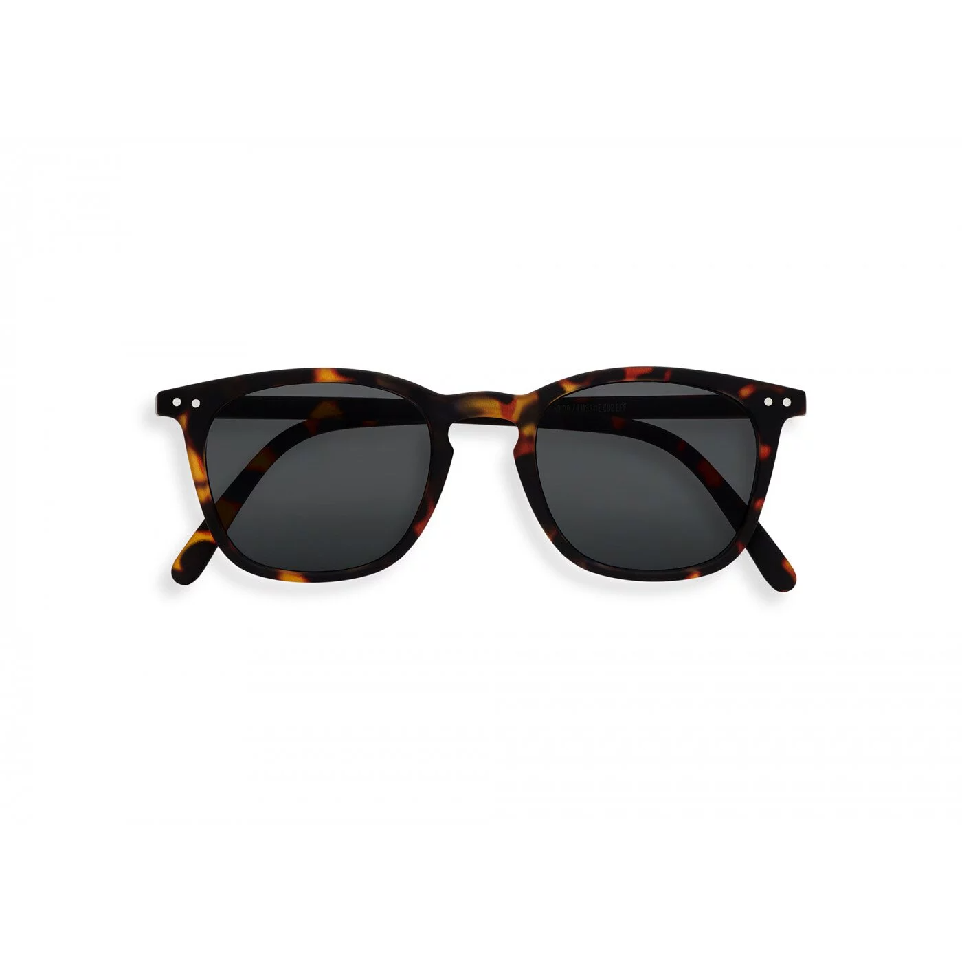 IZIPIZI   #E款 玳瑁/灰色鏡片 方框太陽眼鏡