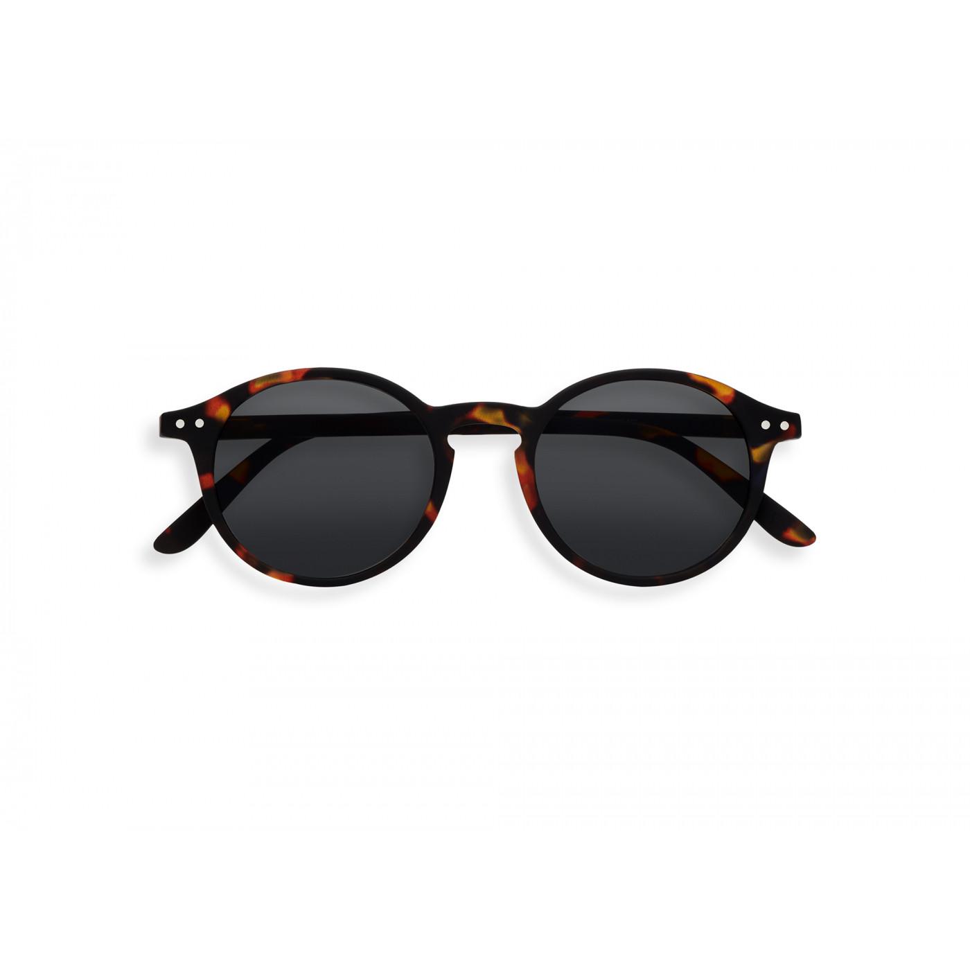 IZIPIZI   #D款 玳瑁/灰色鏡片 復古圓框太陽眼鏡