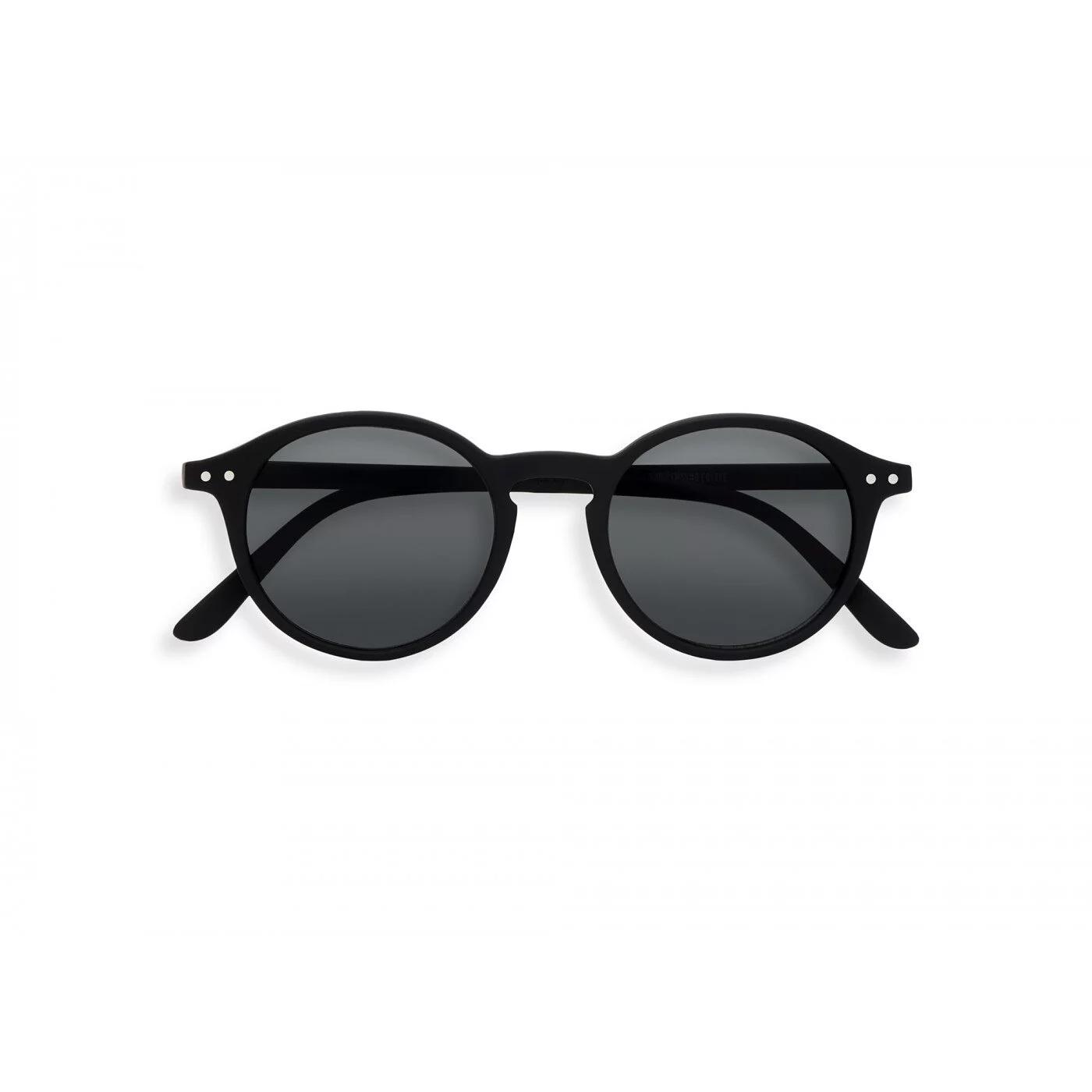 IZIPIZI   #D款 黑/灰色鏡片 復古圓框太陽眼鏡