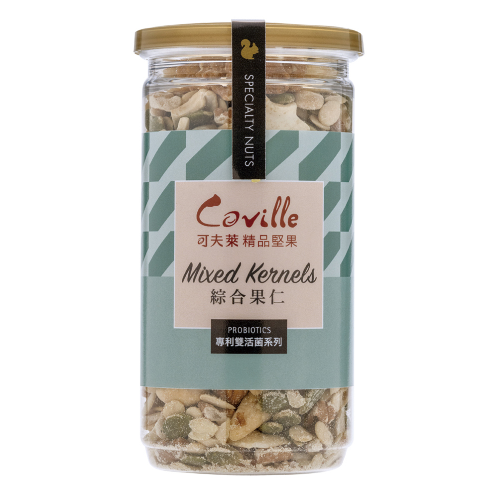 【可夫萊精品堅果】 雙活菌綜合果仁200g 低溫烘焙 無糖 無鹽 天然 瓜子仁