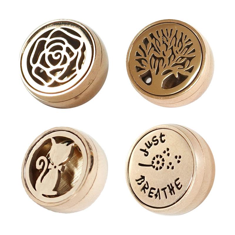 【貝麗瑪丹】香氛釦 12mm 玫瑰/生命樹/紳士貓/BREATHE 玫瑰金 衣領釦 香薰釦 口罩精油釦 口罩香薰釦