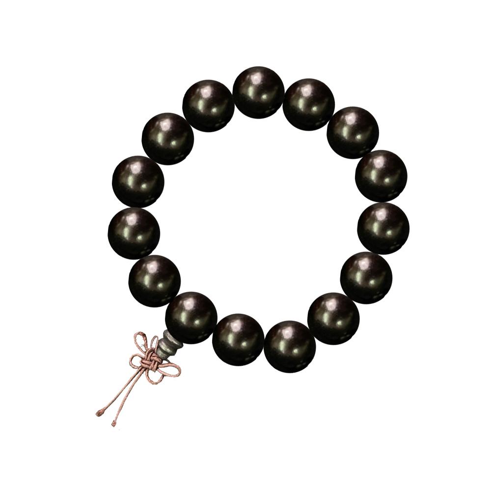 【菩提居】百年沉水黑檀手珠(15mm)