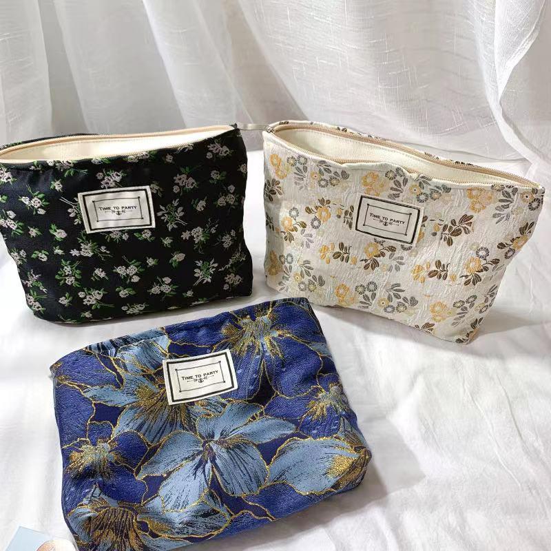 韓版 休閑手提化妝包 收納包 旅行包