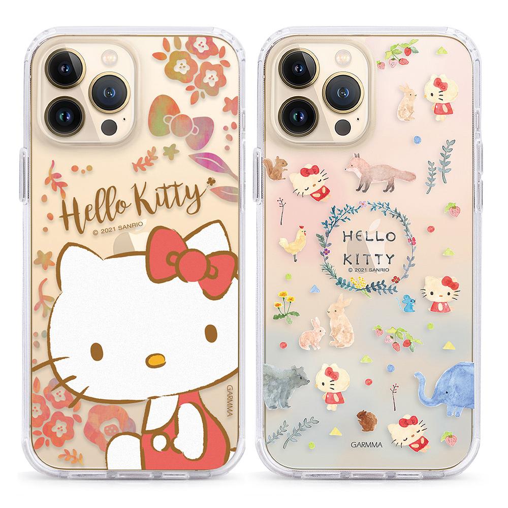 GARMMA Hello Kitty iPhone 13/13 Pro/13 ProMax i13 二合一四角防摔保護套