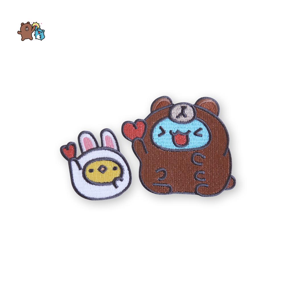 LINE十週年_貓貓蟲咖波 X BROWN&FRIENDS-刺繡熨燙布貼