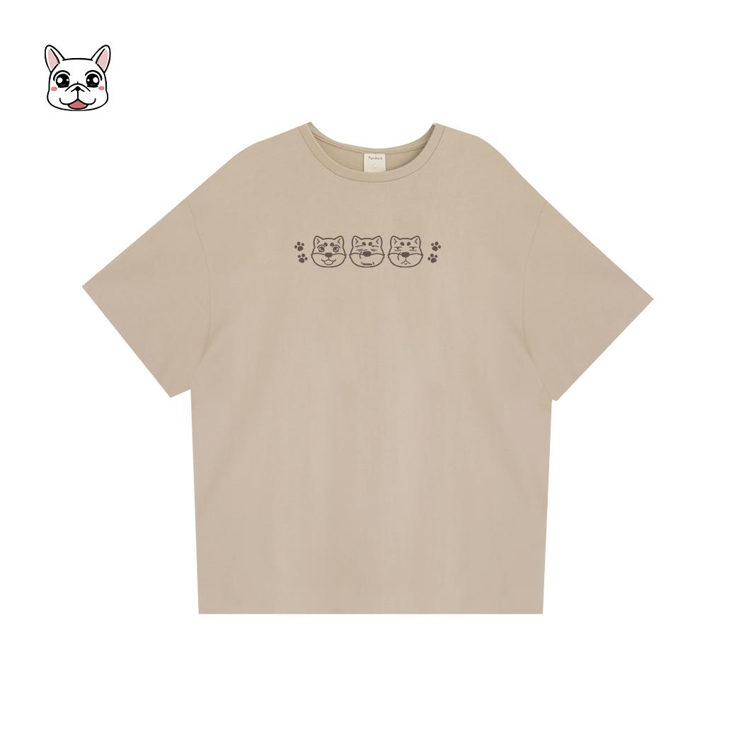 可布魯的豆卡頻道_炸蝦飯丸落肩T恤