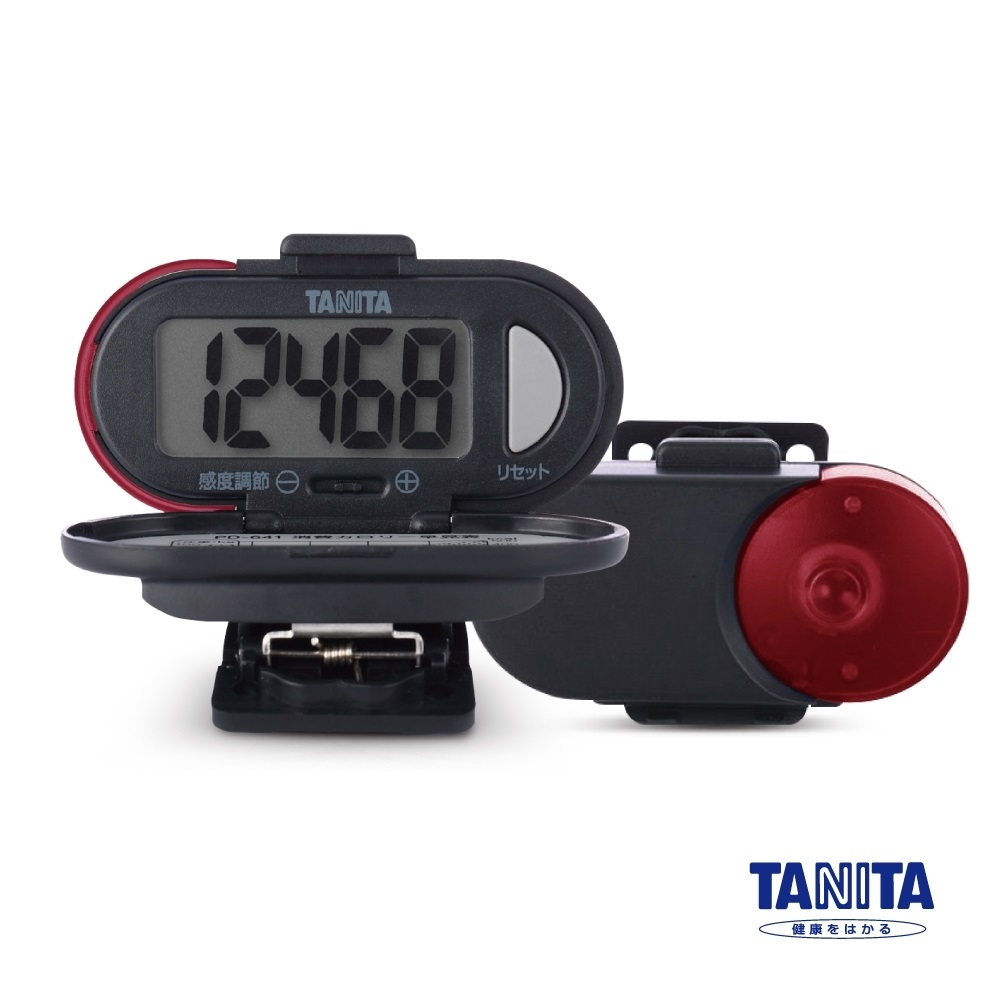 日本TANITA 標準型計步器 PD-641 紅色