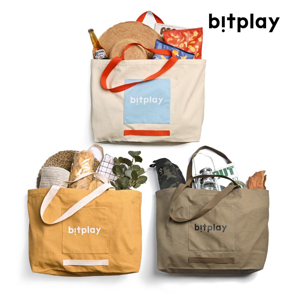 bitplay|超大容量托特包 橄欖綠/卡其棕/夏日撞色款
